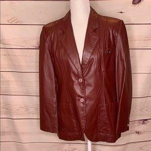 Etienne Aigner • vintage leather blazer
